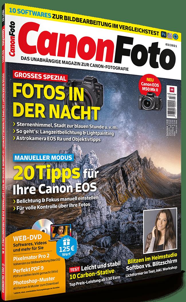 CanonFoto Ausgabe März 2021: zusätzliche Inhalte kostenlos herunterladen