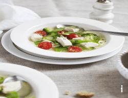 Röllchen aus Weisskohl, Wirsking und mit parmesan
