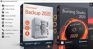 Ashampoo Backup 2020 gratis und Ashampoo Burning Studio 2020 gratis