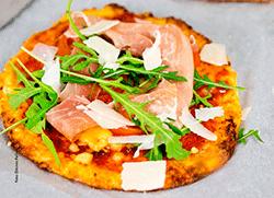 Pizzateig mit Blumenkohl