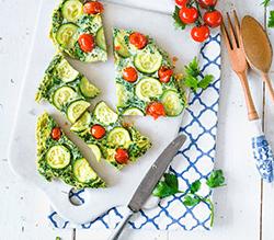 Petersilien-Omeletts mit Gemüse